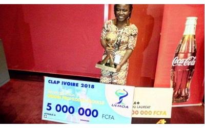 Anita AFATCHAO, la togolaise lauréate du Grand Prix Kodjo Eboucle UEMOA.